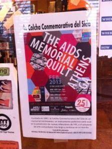 AIDS memorial quilt poster